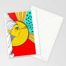 sad mornings Stationery Cards