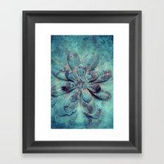 Tin Flower Framed Art Print