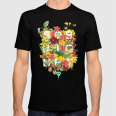 Flora Tropical. X-LARGE Black Mens Fitted Tee
