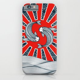 Kois and Waves iPhone Case
