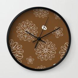 Cowrie Flower 1 Wall Clock