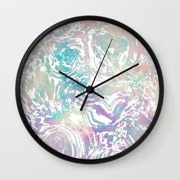 Beautiful Pastel Pattern Wall Clock