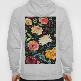 Colorful flowers collage pattern Hoody