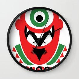 One eye open (red) Wall Clock