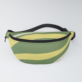 Cute Green and Yellow Zebra Stripes ! Fanny Pack