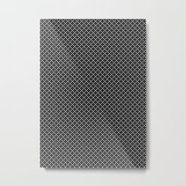 Black White Simple Geometric Pattern Metal Print