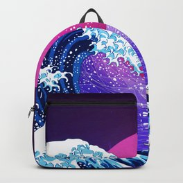 Synthwave Space: The Great Wave off Kanagawa #2 Backpack