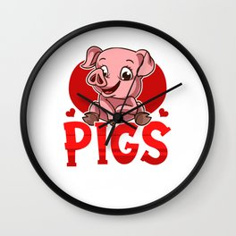 Cute & Funny Pigs Make Me Happy You Not So Much Wall Clock