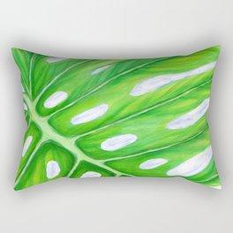 Monstera Close-Up Rectangular Pillow
