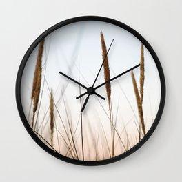 Beach grass III | Calm natural fine art print | Netherlands Wall Clock