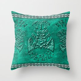 African elephant with ethnic motives V7 V WH Throw Pillow