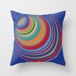 Colorful Striped Circles Tunnel Vintage Design 1960's Throw Pillow
