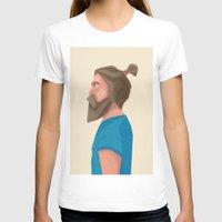 beard T-shirts featuring Beard by L P C