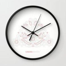 Hungarian Embroidery no.14 Wall Clock