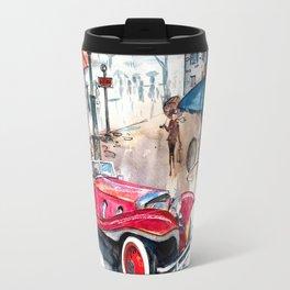 Red retro car Travel Mug