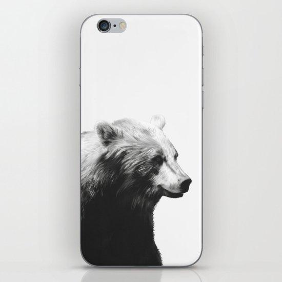 Bear // Calm (Black + White) iPhone & iPod Skin