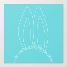 Blue Bunny Ears Canvas Print