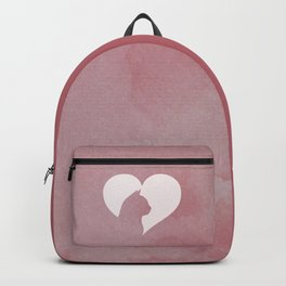 Watercolor Cat Heart Backpack