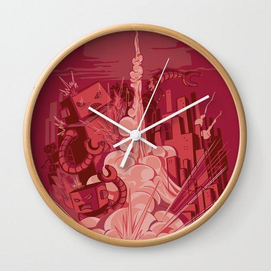 Smash! Zap!! Zoom!!! Wall Clock