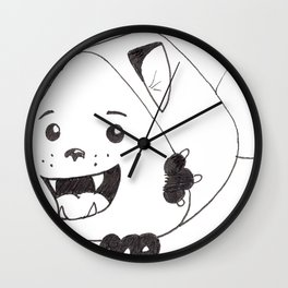 Fear Me!  For I am both cute and creepy! Wall Clock