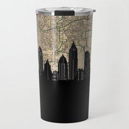 atlanta skyline sepia Travel Mug