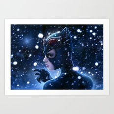Catwoman Painting Art Print