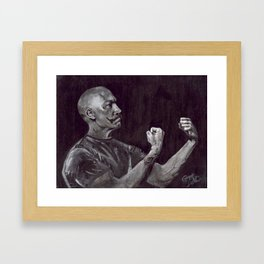 Original Art, Mustache, THE HANDSOME BOXER Framed Art Print
