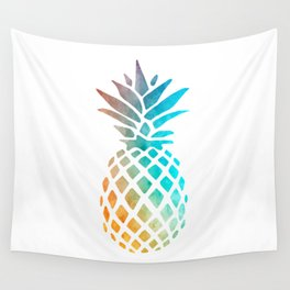Watercolor Pineapple Wall Tapestry