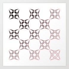 Checker C3 Art Print