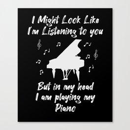 Piano Pianist Instrument Teacher Gift Canvas Print
