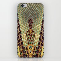 art deco iPhone & iPod Skins featuring Art Deco by Sabina Miklowitz