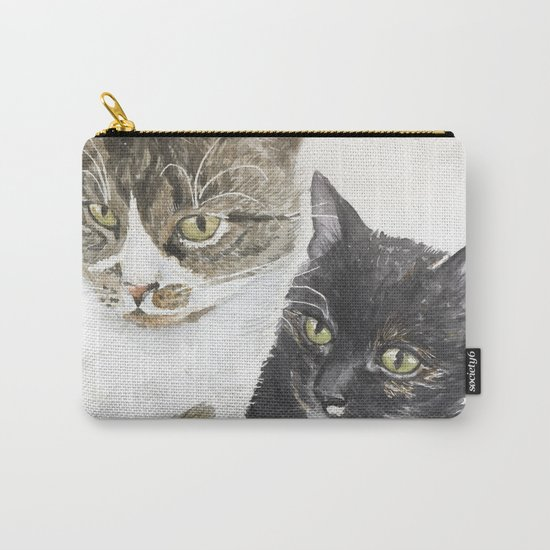 Two cats - tabby and tortie Carry-All Pouch