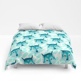 husky - wht pattern Comforters