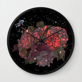 Meet Flowers in Space Wall Clock