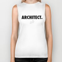 architect Biker Tanks featuring Architect by var_studio