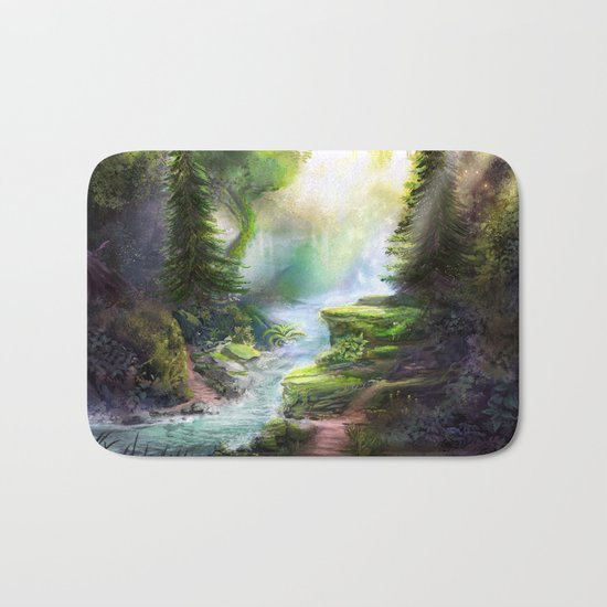 Magical Forest Stream Bath Mat