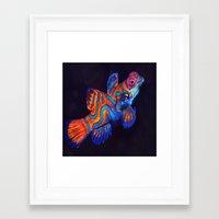 duvet cover Framed Art Prints featuring AMAZING CREATURE DUVET COVER by aztosaha