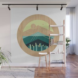 Wooded Trackless Grasslands Wall Mural