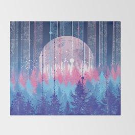 Rainy forest Throw Blanket