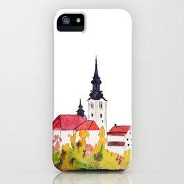 Slovenia Bled Lake pilgrimage church iPhone Case