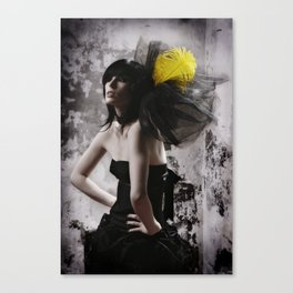 yellow feather Canvas Print