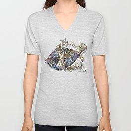 Dragon Fish (Color) Unisex V-Neck