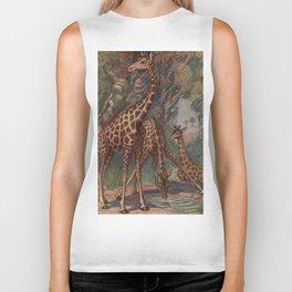 Vintage Giraffe Painting (1909) Biker Tank