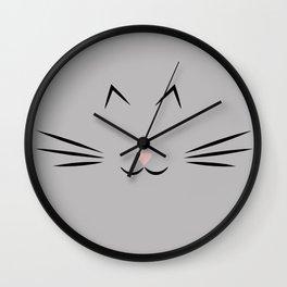 Feline Fine - Gray Wall Clock