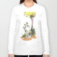 calvin and hobbes Long Sleeve T-shirts featuring Calvin n hobbes by TEUFEL_STRITT666
