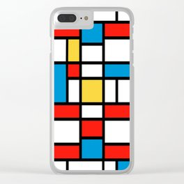 Mondrian design, abstract pattern Clear iPhone Case