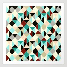 Harlequin tile Art Print