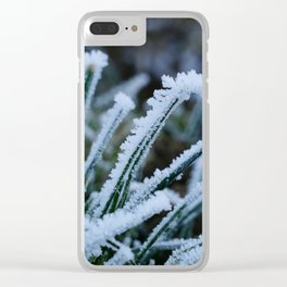 Frosted Grass Clear iPhone Case