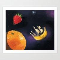 Space Fruit Art Print
