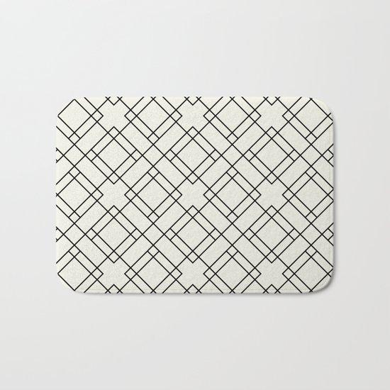 Simply Mod Diamond Black and Cream Bath Mat